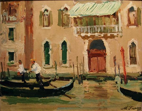Venice cityscape - oil painting