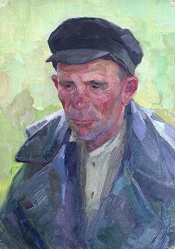 Shepherd portrait or figure - oil painting