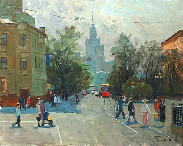 Untitled cityscape - oil painting
