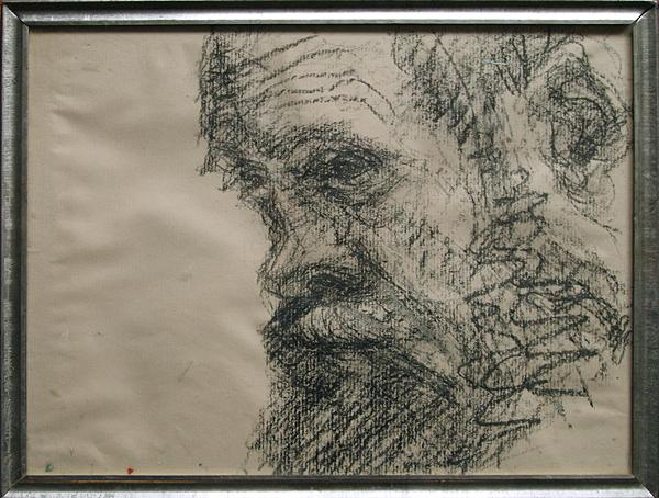 Portrait of Victor Chudin portrait or figure - charcoal drawing
