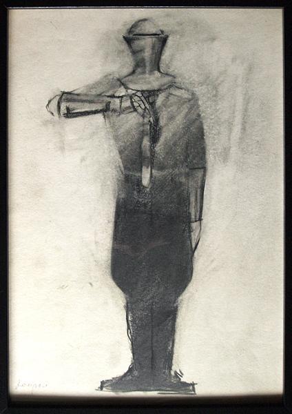 Sketch for a Theater Costume costume - pencil theatre art