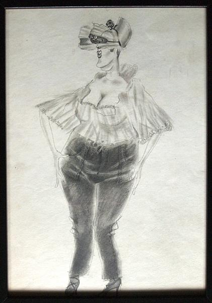 Sketch for a Theater Costume costume - pencil theatre art