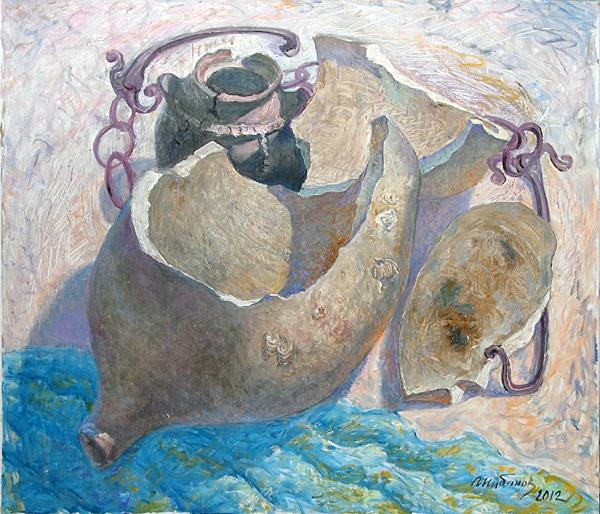 Adriatic Still Life still life - oil painting