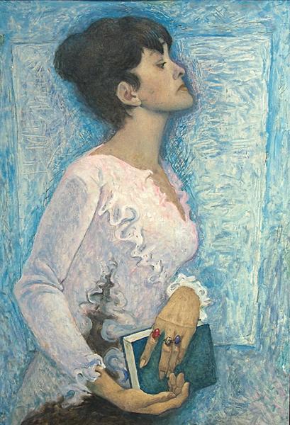 Bella Akhmadullina portrait or figure - oil painting