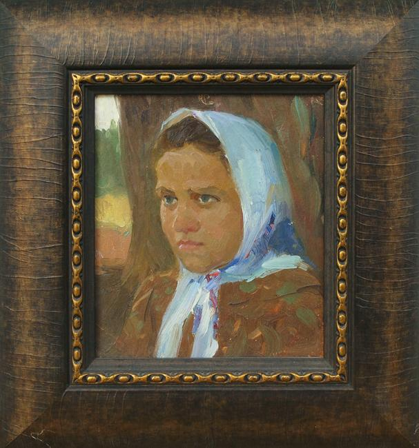 Girl portrait or figure - oil painting