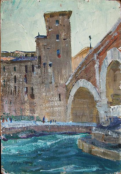 Rome cityscape - oil painting
