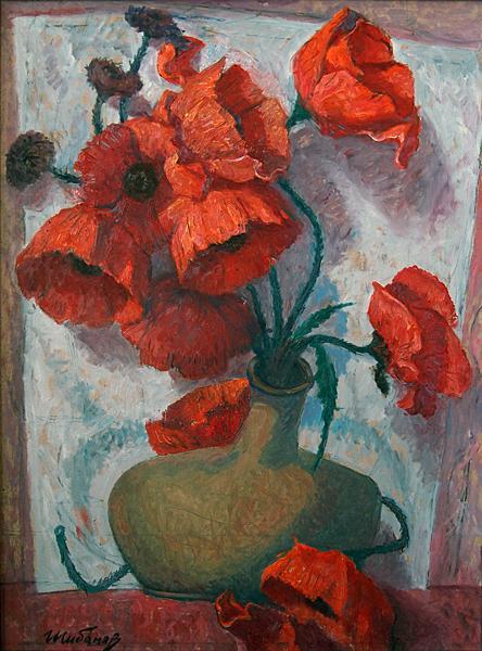 маки цветы натюрморт
