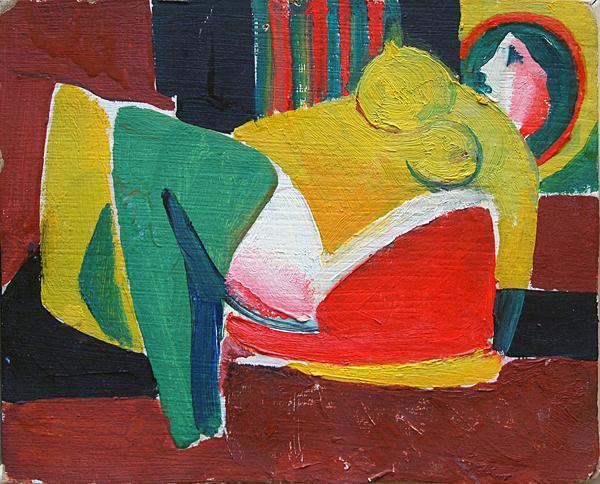 Untitled nude art - oil painting