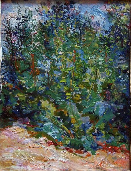 Untitled summer landscape - oil painting