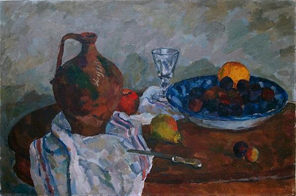 Still Life with a Jug still life - oil painting
