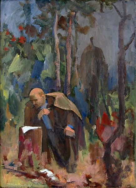 Untitled social realism - oil painting