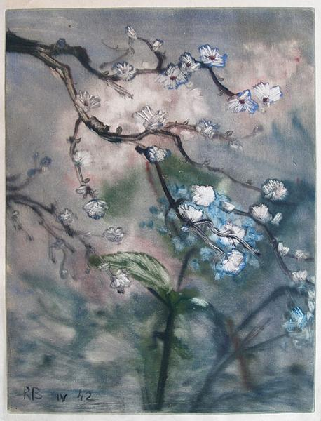 Untitled flower - oil printmaking
