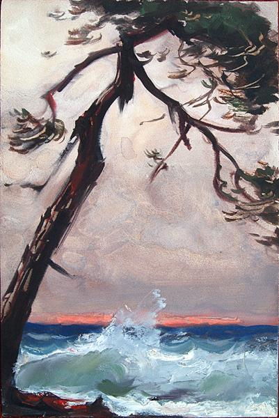 Untitled seascape - oil painting