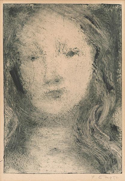Untitled portrait or figure -  drawing