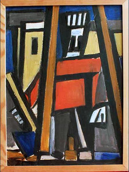 Плотник абстрактное искусство - масло живопись