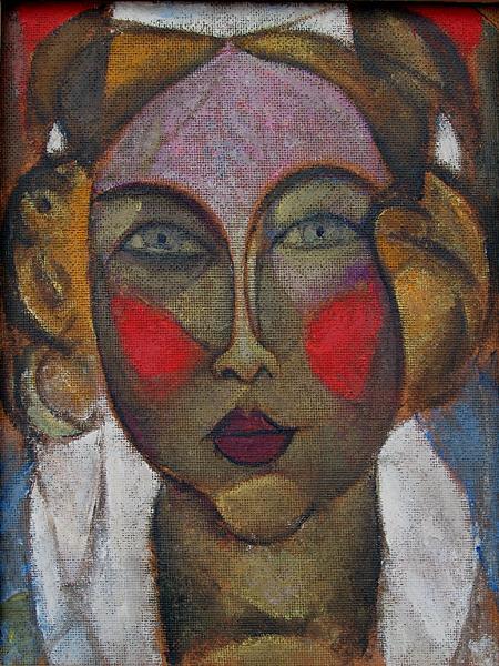 Queen portrait or figure - oil painting
