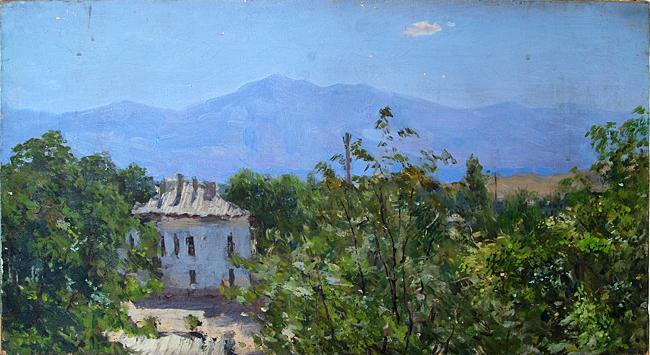 Krasnovodsk cityscape - oil painting