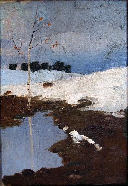 Spring Landscape spring landscape - oil painting