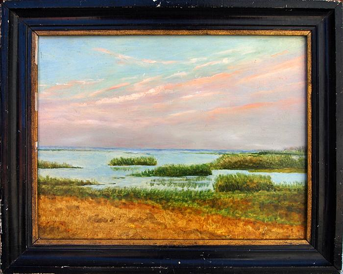 The Mouth of the Kama spring landscape - oil painting