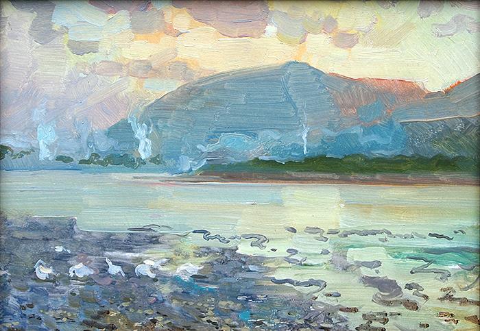 Untitled summer landscape - oil painting