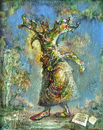 Фантазер необычное - масло живопись
