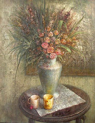 Dry Flowers. Memories of Summer still life - oil painting