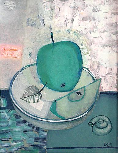 Apple still life - oil painting
