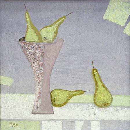 Still Life with Yellow Pears still life - oil painting