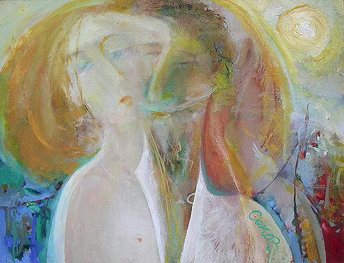 Я хочу быть с тобой любовь - масло живопись