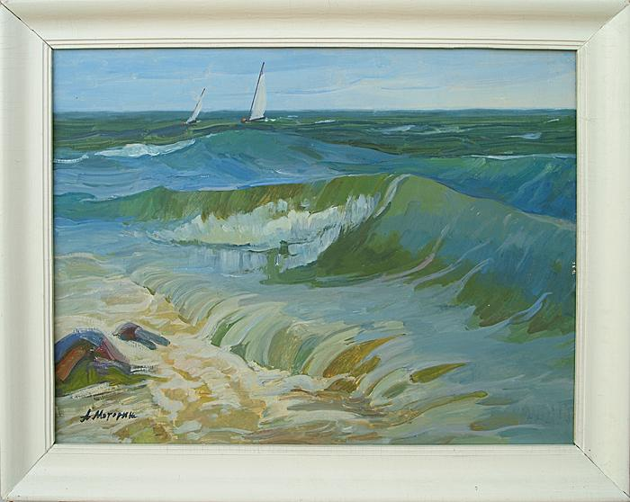 Wave seascape - oil painting