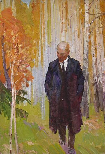 Ленин портрет или фигура - масло живопись