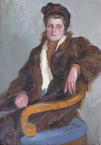 Portrait of a Woman portrait or figure - oil painting