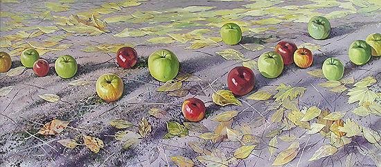 Apples still life - oil painting