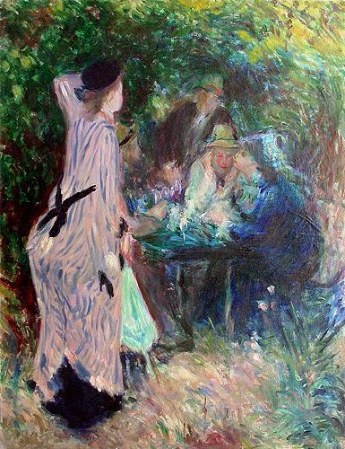 В саду (копия) жанровая сцена - масло живопись