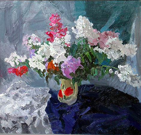 Flowers flower - oil painting