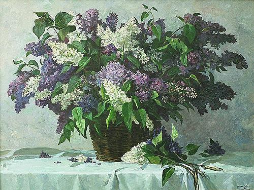 Lilac flower - oil painting