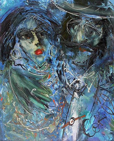 I Want to Be with You figurative art - oil painting