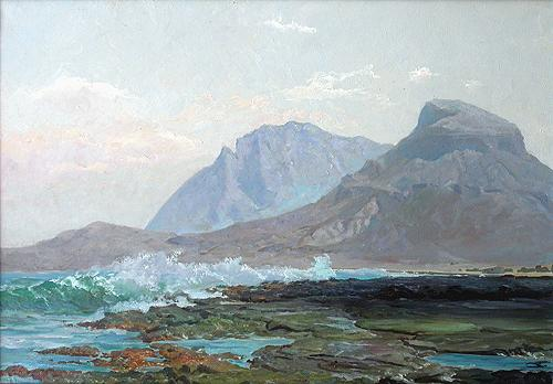 Surf seascape - oil painting