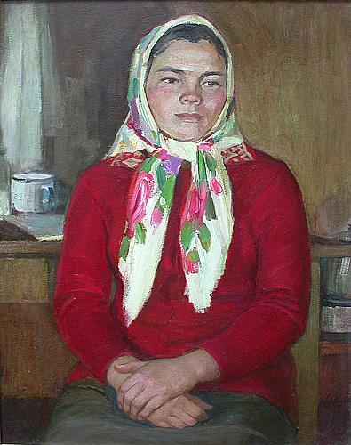 Young Milkmaid's Portrait portrait or figure - oil painting