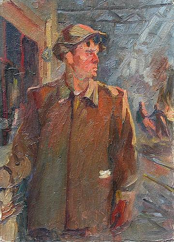 Study for a Portrait portrait or figure - oil painting
