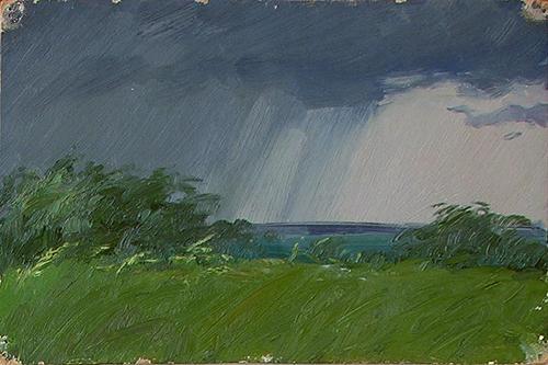 landscape summer rain