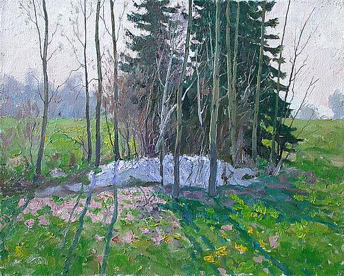 Spring Day spring landscape - oil painting