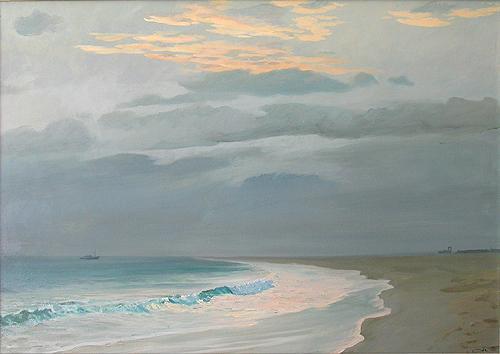 Вечер на о.Сал морской пейзаж - масло живопись