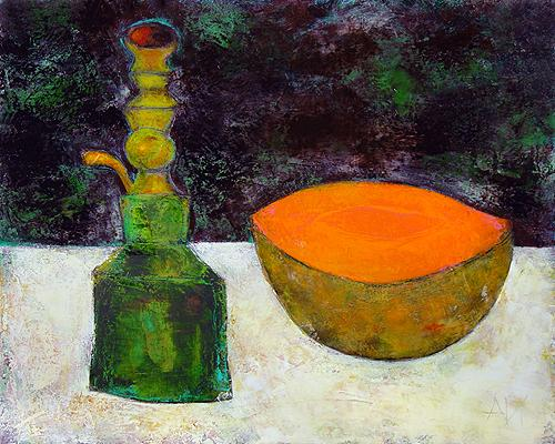 Still Life with a Hookah still life - oil, acrylic painting