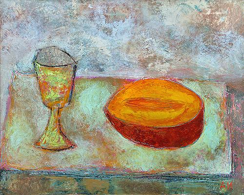 Still Life with a Wine Glass still life - oil painting