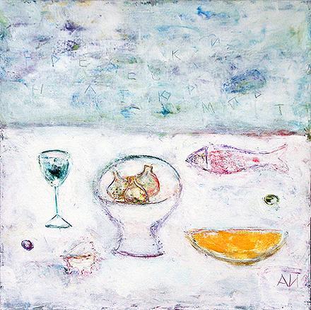 Greek Still Life still life - acrylic painting