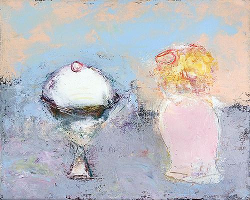 Ice Cream still life - acrylic painting