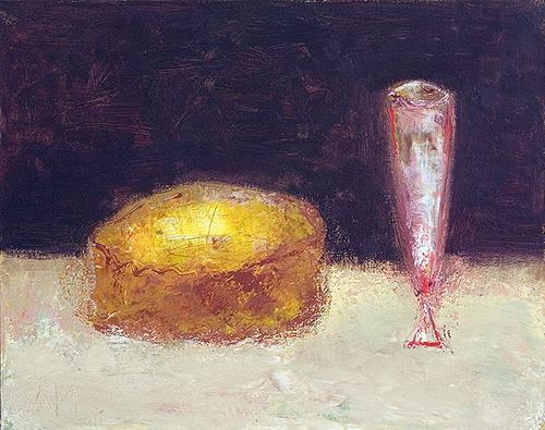 Cake still life - oil painting
