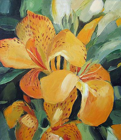 """""""Tiger Lily"""" flower - oil painting"""