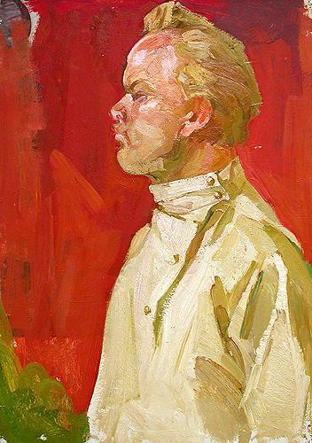 Этюд портрет или фигура - масло живопись